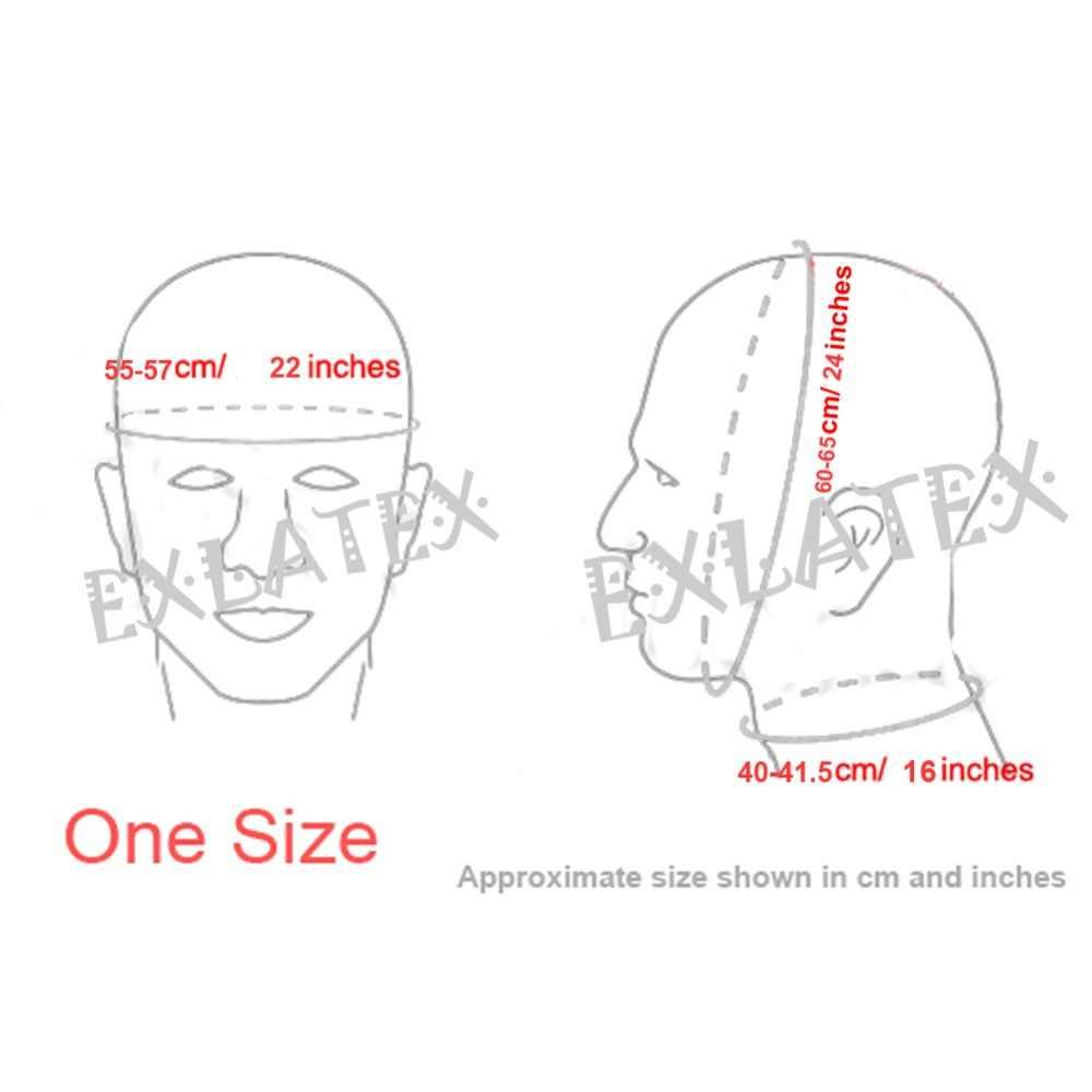 Латекс капюшон Дэдпул Маска праздничные резиновые колпаки SM маска с глазами рот открытый с ноздрями конский хвост с молнией латекс фетиш маска