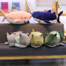70 Cm Shark Crocodile Plush Toy Pillow With 100*170 Cotton Blanket Toys For Children