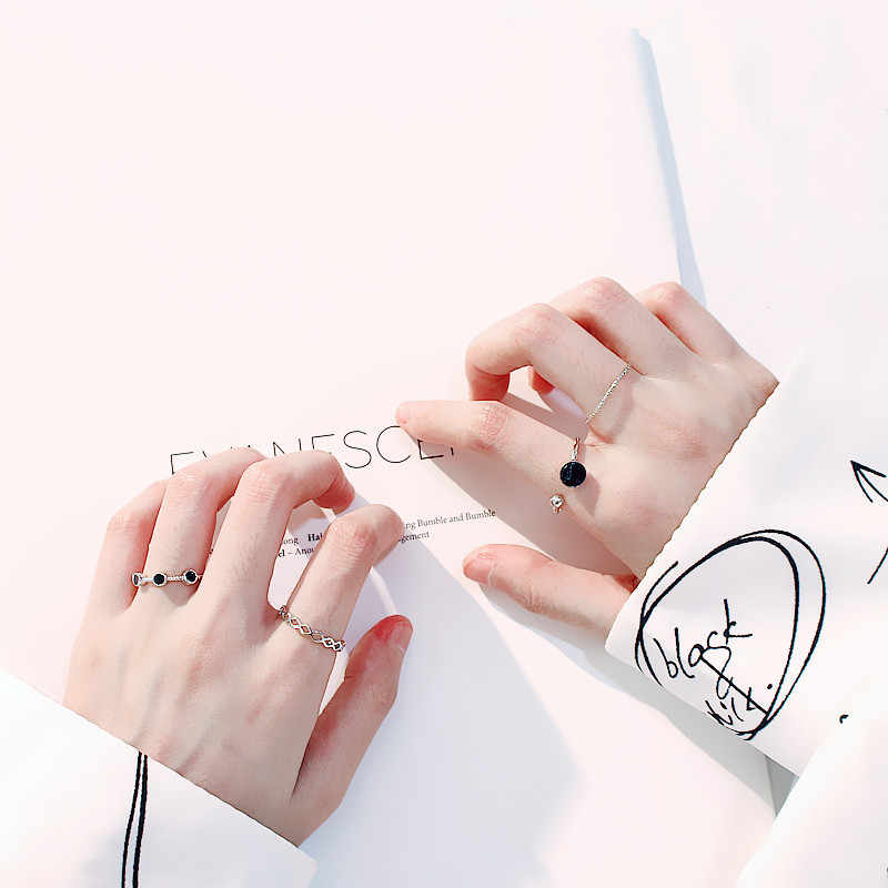 Creative 4pcs Open Joint Ring for Women Korean Fashion Retro Simple Exquisite Harajuku Style Accessories Rings Jewelry Gift