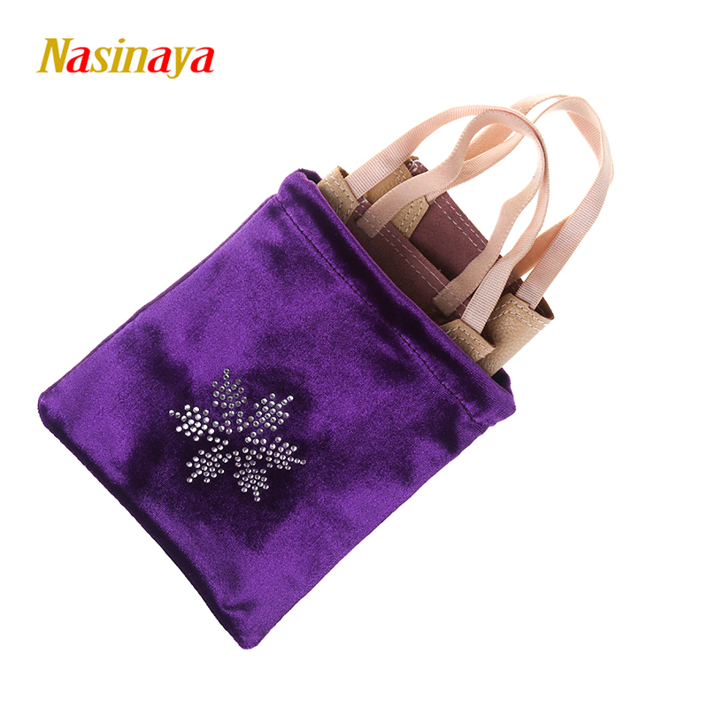 24 Warna Gimnastik Rhythmic Half Shoes Bag RG Profesional Perlindungan Velvet Fabric Accessories Gim Girl Snowflake berlian buatan