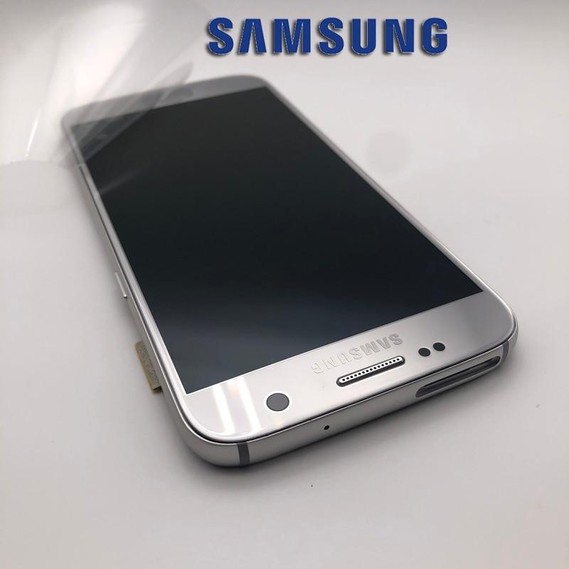 Sans buan-shadow affichage d'origine pour SAMSUNG Galaxy S7 G930 G930F écran LCD avec cadre écran tactile numériseur assemblée