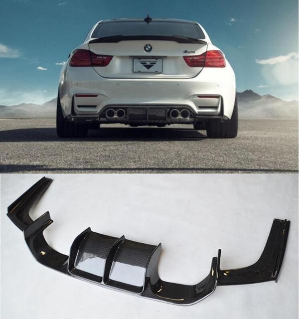 Car Styling F80 M3 F82 M4 V Styling 3pcs Carbon Fiber Rear Bumper Lip Diffuser For Bmw F80 M3 F82 M4 2014 2015 2016 2017 2018 In Body Kits From
