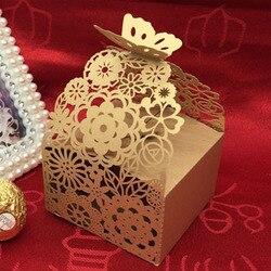 Caixa de doces saco de chocolate caixa de presente de papel borboleta flor laço festa de aniversário casamento decoração artesanato diy favor chá de fraldas wh