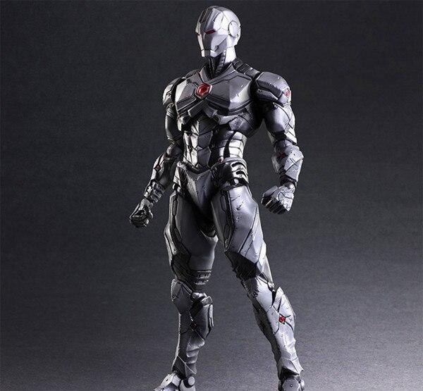Play Arts Kai Iron Man Grey Limited Ver Age of Ultron Tony Stark Hulkbuster PA 27cm PVC Action Figure Toys Kids Gift Brinquedos