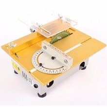 new miniature high precision table saw dc 24v 7000rpm cutting machine diy model saws precision carpentry chainsaw 100w 1 5 10mm Portable Table Saw High Precision 7000RPM  Metal/Acrylic Cutting Polish Machine DIY Precision Carpentry Chainsaw  110V US Plug