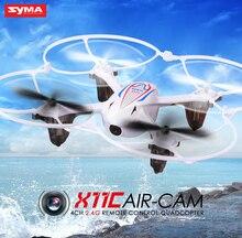 X11c syma rc helicóptero 4ch 2.4 ghz mini drone aviones quadcopter con cámara 2.0mp hd motor del cepillo blanco, negro, colores