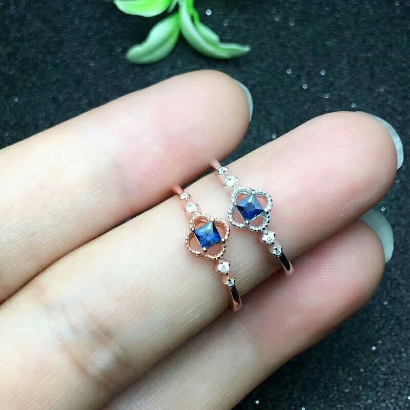 Shilovem 925 стерлингового серебра Природный сапфир кольцо fine Jewelry настраиваемые модные годовщина новый 2018 lj040601agl