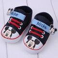 Nueva llegada del resorte del bebé niño de dibujos animados zapatos de algodón zapatos de bebé inferiores suaves niños primeros caminante niños niñas prewalker shoes