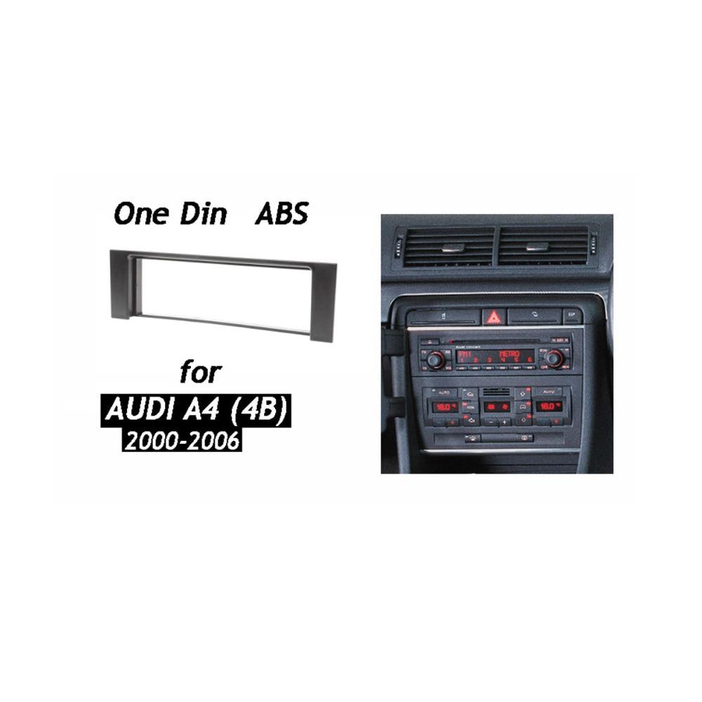One Din Fascia For Audi A4 Radio CD DVD Stereo Panel Dash Mount Installation Trim Kit Frame Plate Bezel
