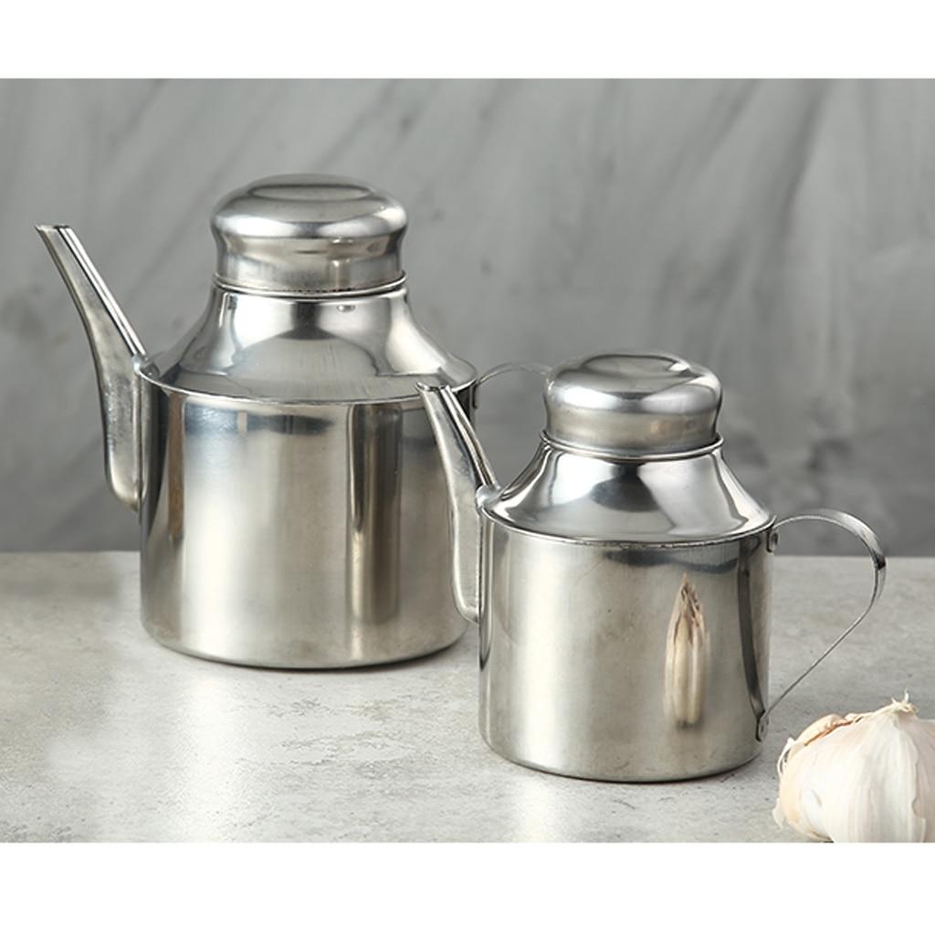 Oil Vinegar Bottle Olive Pot Kitchen Sauce Cruet Dispenser Pourer Spirit Jug