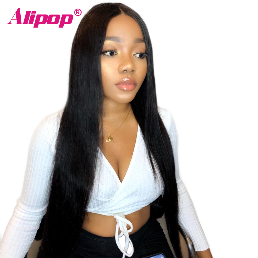 Straight Human Hair Wigs For Women 360 lace frontal wig Pre Plucked With Baby Hair Indian