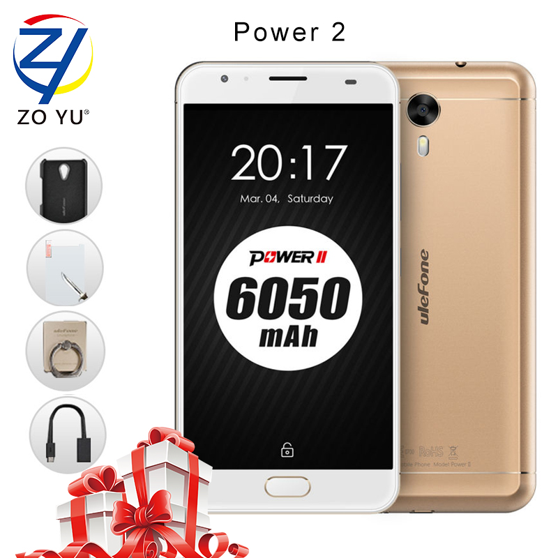 Ulefone mtk6750t energía 2 teléfono inteligente 4g android 7.0 teléfono móvil 4