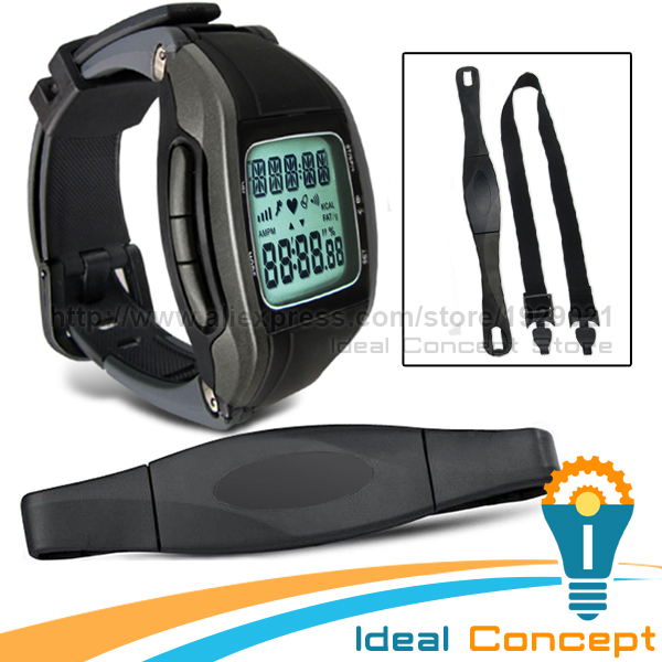 Multi Function Pulse Watch With Calendar Heart Rate Monitor Chest Belt 7 Days Memory Calorie font