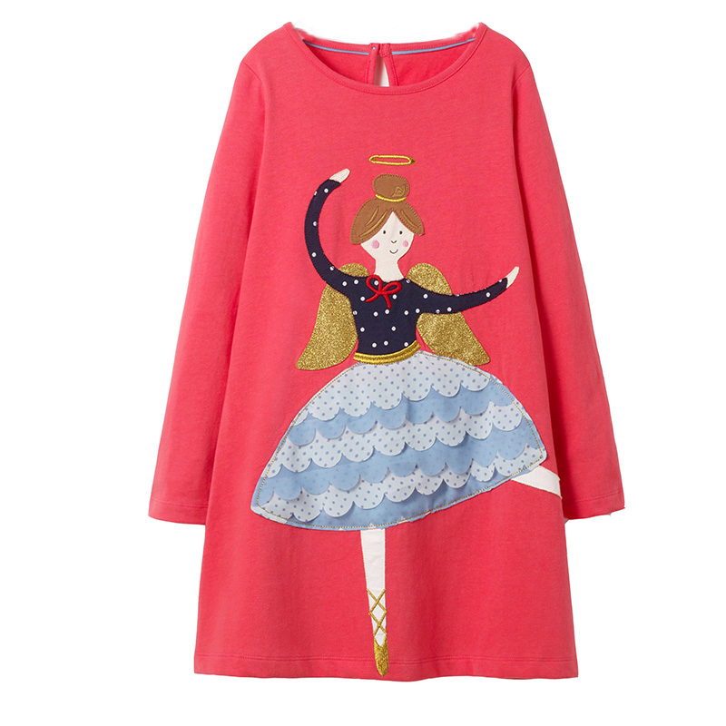Jumping Meters Girls Dress Long Sleeve Baby Girl Clothes Christmas Dress Unicorn Party Vestidos Princess Dress Kids Costume 1-6T jumping meters girls dress kids clothes 2018 brand baby summer dress tunic jersey vestidos 100