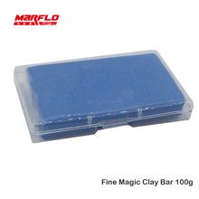 Magic Clay Bar Fine 100g with PP box Super Car Cleaning Detailing Care Wash Before Wax Applicator Marflo Brilliatech