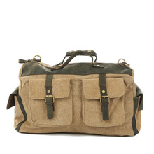 YISHEN Men's Vintage Travel Bags Large Capacity Canvas Tote Portable Luggage Daily Handbag Multifunction Male Travel Bags MS1858