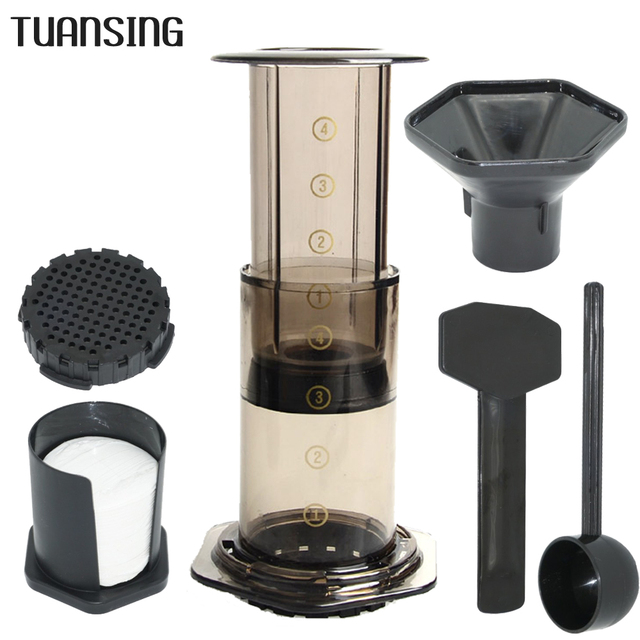 Tuansing French Press Coffee Maker Pot Portable Air Espresso Machine With 350pcs Filter