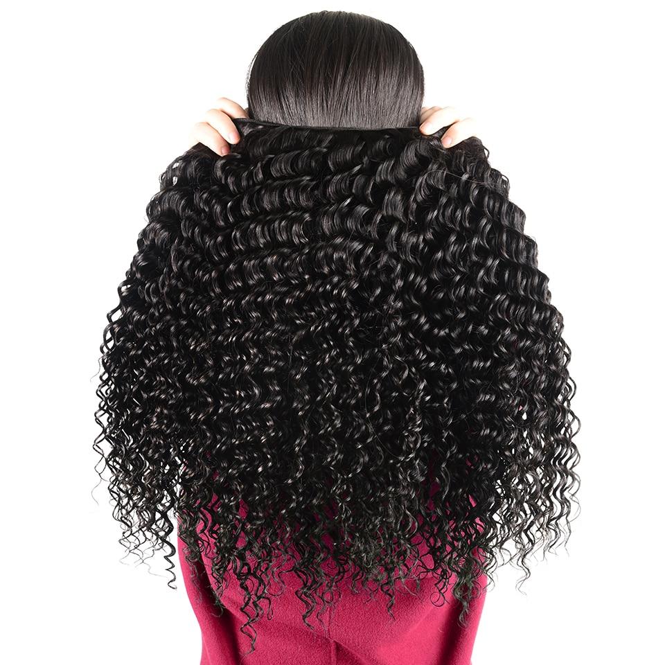 HTB1.HAricuYBuNkSmRyq6AA3pXal Brazilian Deep Wave Bundles With Closure Non Remy Human Hair 3 and 4 Bundles With Lace Closure Queen Mary Human Hair Extensions
