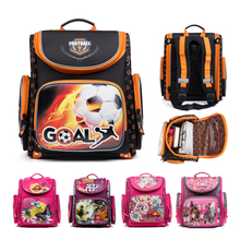 2018 Orthopedic Backpacks Kids Cartoon Football Waterproof Ergonomic Design Schoolbag High Quality Children Boys School Bags
