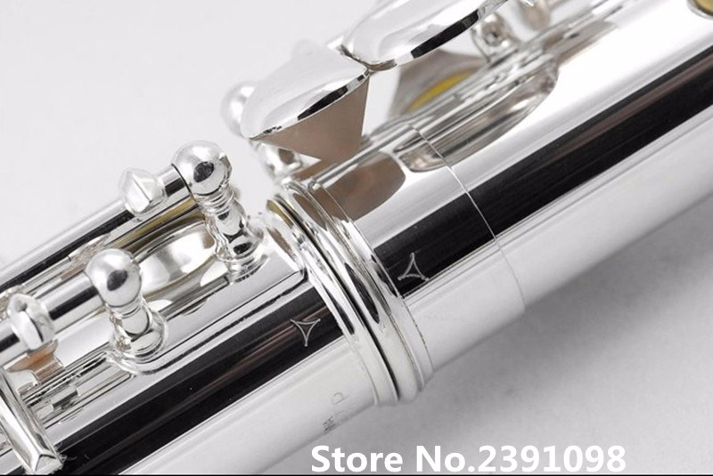 NEW Hot Flute musical instrument Flute16 over E-Key Flute Silver Plated music professional shipping wholesale 17 e key trepanned dual flute musical instrument