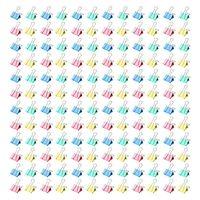 Цветной металлический зажим, разные цвета и размер 3/4 дюйма, 144x зажимы