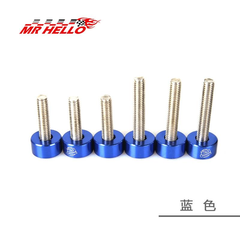 M6 6 шт./упак. jkdreamer Алюминий шайбами и болт для honda воздуха впускной коллектор двигателя - Цвет: blue