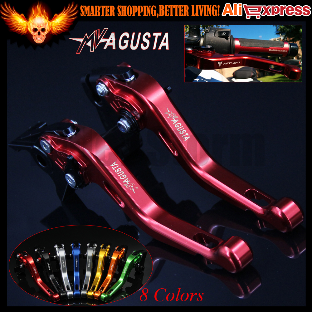 ФОТО For MV agusta Brutale 800/RR 2014 2015 8 Colors Red CNC Aluminum Motorcycle Short Brake Clutch Lever