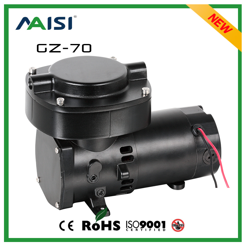 12V DC 2.5 Bar High Pressure  Brushless Medical Vacuum Pump 68L/min 100W  Electric Air Compressor Micro Diaphragm Pump -GZ-70 manka care 110v 220v ac 50l min 165w small electric piston vacuum pump silent pumps oil less oil free compressing pump