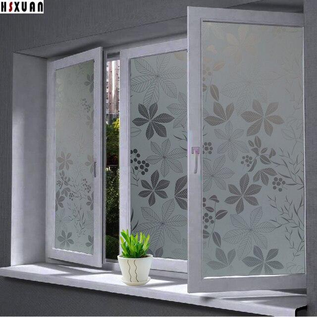 decorative window film terrazzo leaf flower decorative window film 40x100cm privacy paste decor selfadhesive glue window stickers sunscreen self