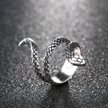 Silver-Plated Snake Ring