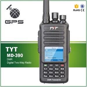 Image 1 - TYT MD 390 2200Mah סוללה IP67 עמיד למים משדר GPS דיגיטלי רדיו UHF 400 480MHz שתי דרך רדיו עם פרו כבל