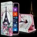 Для Microsoft Lumia 535 Case Мультфильм Шаблон Карты Держатель Кожа бумажник Откидная Крышка Case Для Microsoft Lumia 535 Внутренний ТПУ Case