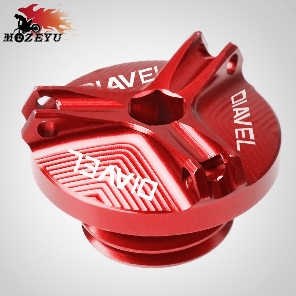 For Ducati Diavel AMG Carbon Strada XDIAVEL S Diablo 650 Aluminum Motorcycle Accessories Oil Cap Fuel Tank Oil Cover Oil CUP in Covers Ornamental Mouldings from Automobiles Motorcycles