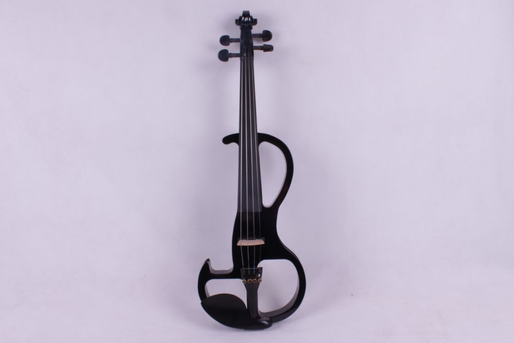 black 4 string  4/4 Electric Violin solid wood fine sound 1 Pcs the item is white   if you need other color please tell me 4 string 4 4 electric violin silent pickup fine tone solid wood3 the item is the color if you need other color please tell me