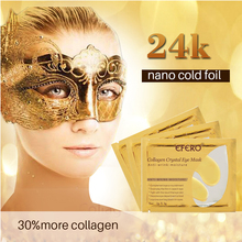 efero Gold Eye Mask for Patch Dark Circles Sheet Masks Crystal Collagen Patches the Eyes Care 5Pack=10PCS