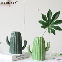 Creative Ceramic Vase Home Decoration Flower Pot Nordic Style Cactus Crafts Wedding Decor Artificial flower container 05379