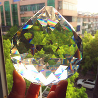 K9 100mm Transparent Crystal faceted Chandelier Ball Crystal Fengshui Ball For Window Suncater Home Decoration