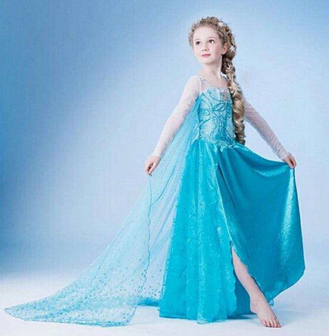 HTB1.HCcnv6H8KJjy0Fjq6yXepXap Queen Elsa Dresses Elsa Elza Costumes Princess Anna Dress for Girls Party Vestidos Fantasia Kids Girls Clothing Elsa Set