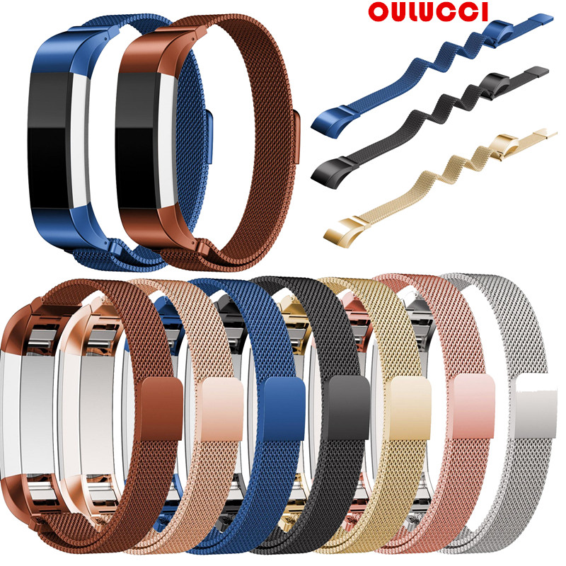 For Fitbit Alta HR and Alta Bands,  Replacement Milanese Loop Stainless Steel Metal Bands Small Large Silver Rose Gold Black