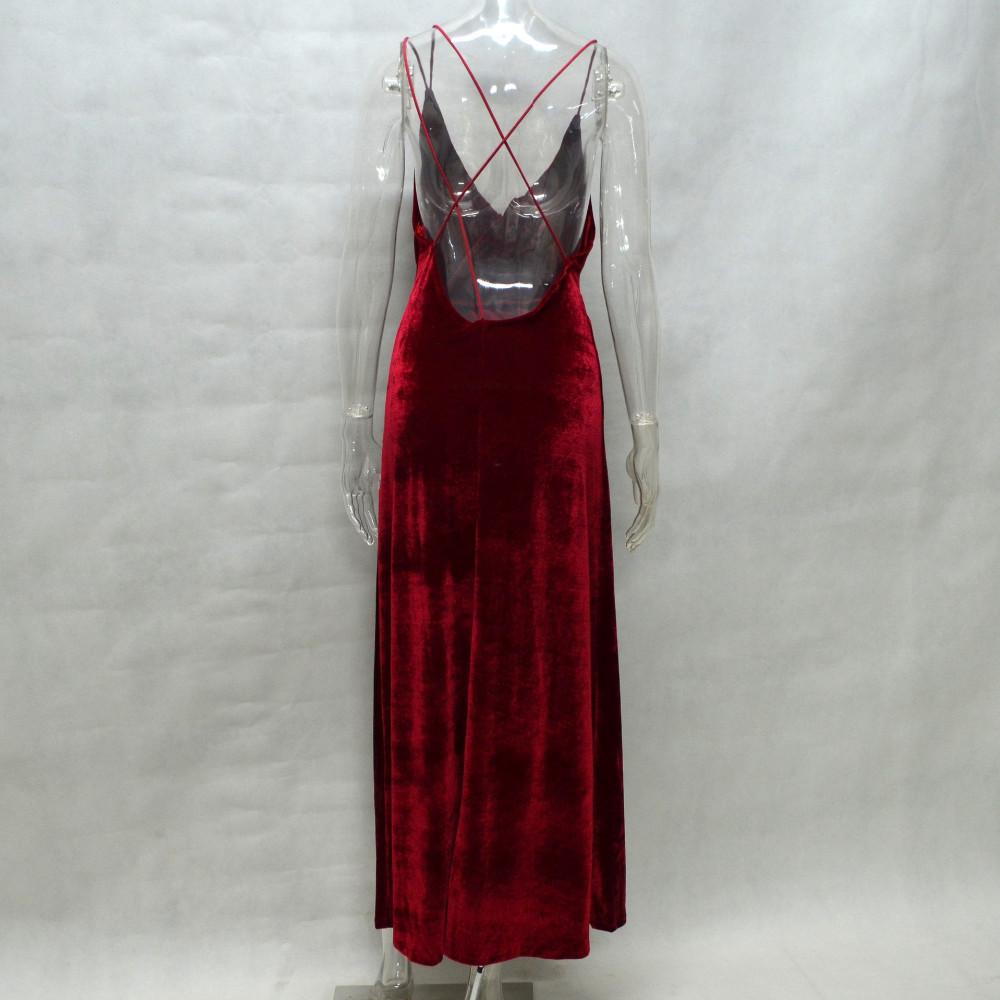 cb9b4f14c Ucrania de terciopelo rojo de navidad cami sexy dress women backless casual  vestido de festa ropa barata de china vino de boho vestidos de terciopelo  ...