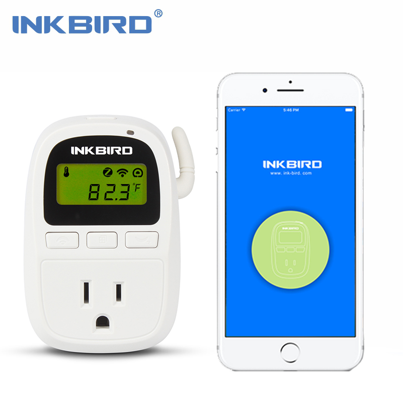 Inkbird C919 110V 1500W Smartphone Wifi Digital Smart Temperature Controller, Heater/Cooler Thermostat, Timer for Homebrewing