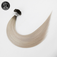 Fairy Remy Hair 0.8g/s 16 Inch Remy Fusion U Tip Hair Extensions Human Hair Balayage Highlight Ice Blonde Pre Bonded Remy Hair