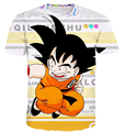 Recentes Engraçado T-Shirt Doces Bonito Kid Goku Anime personagens 3D impressão camisa de t Das Mulheres Dos Homens Clássico Dragon Ball Z Anime camiseta casuais