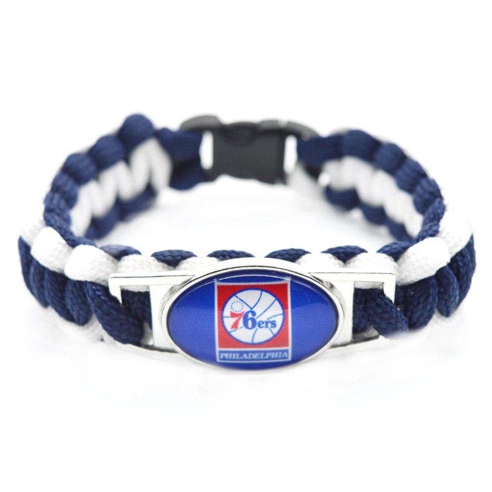 2018 New Basketball Bracelet Philadelphia Charm Braided Bracelet for Men Women Sport Bracelet Jewelry Gifts