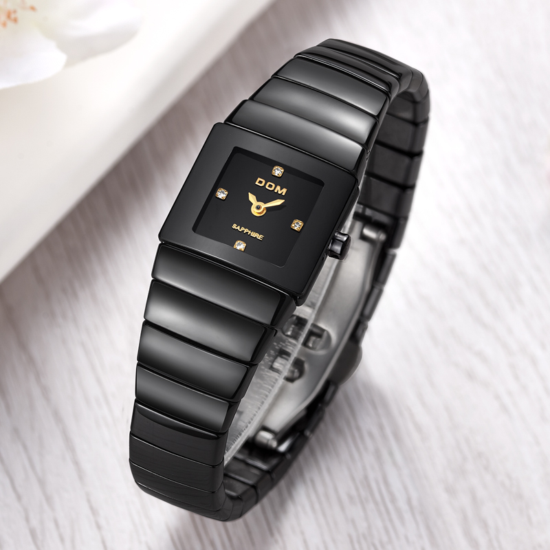 New business couple watch retro men and women ceramic bracelet watch brand waterproof calendar luxury quartz watch T-730+T-530 new business casual watch trend fashion business couple watch