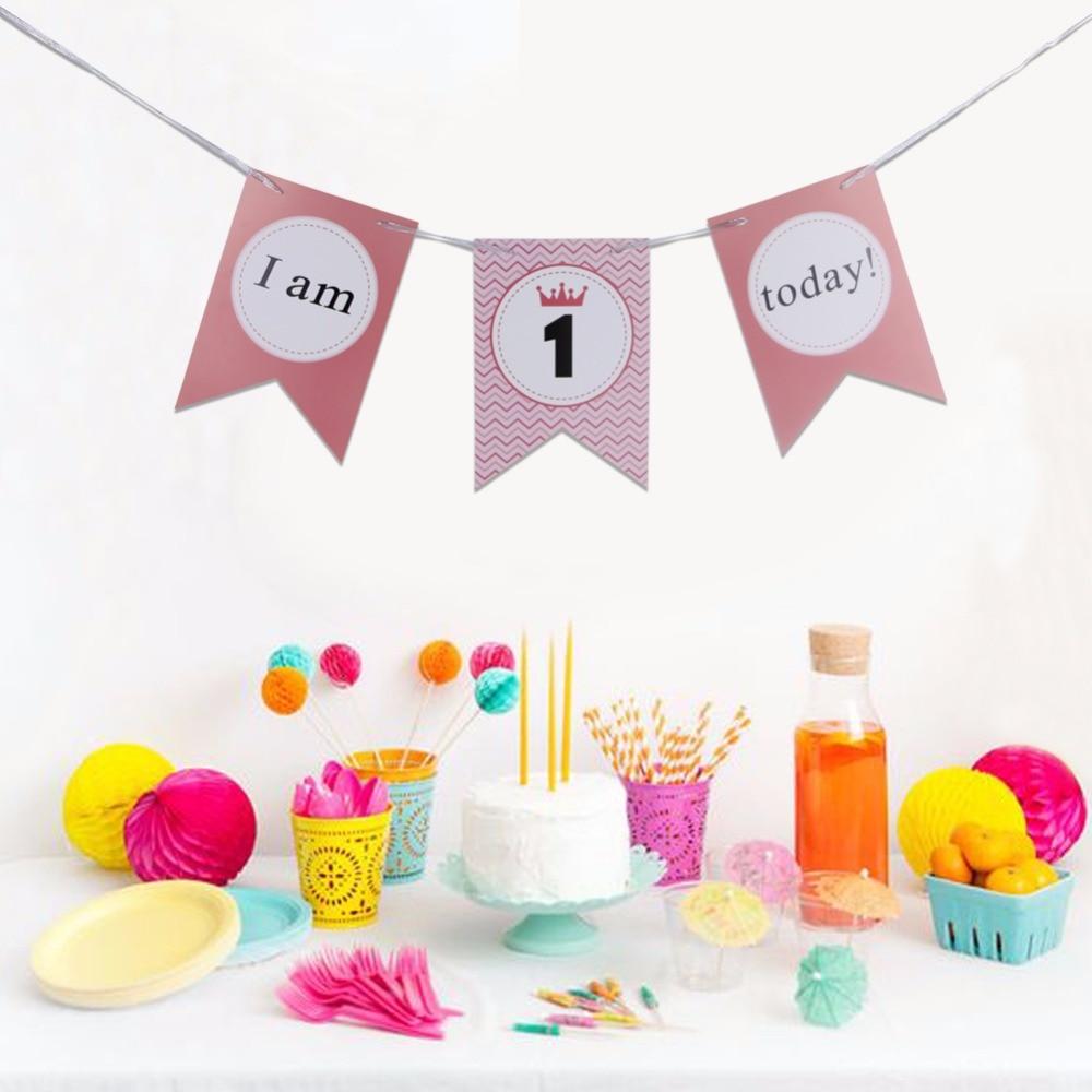 Aliexpress.com : Buy Happy 1st Birthday Banner Girl Baby's