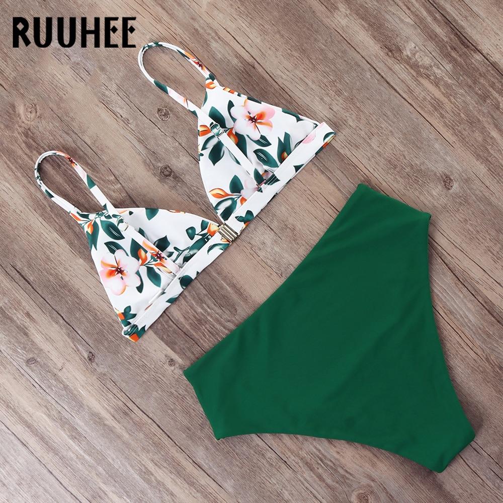 RUUHEE Bikini 2019 Swimwear Women Swimsuit High Waist Bikini Set Push Up Bathing Suit Women Beach wear Maillot De Bain Biquini