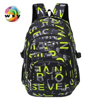 European And American Style Letters Printing Backpack Large Capacity Waterproof Nylon Travel Backpack For Men Leisure