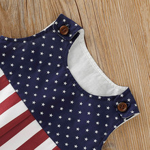 4th of July Baby Boy Girl Star Striped Patriotic Romper