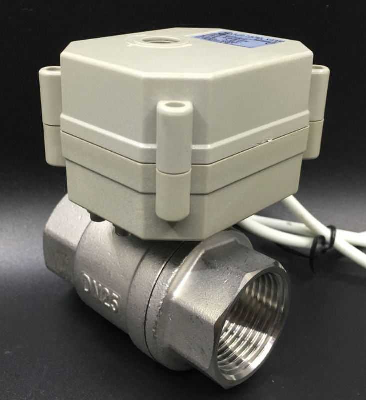Spring Return BSP/NPT 1'' Full Port Normal Open/Close Electric Ball Valve TF25-S2-C SS304 DN25 AC110-230V 2 Wires tsai fan motorized ball valve 2 ac110 230v 2 5 wires electric valve dn50 upvc ball valve normal close open for hvac systems
